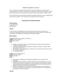 Good Engineering Resume Examples Resume Template Electronic Engineering Resume Sample Free Career 22