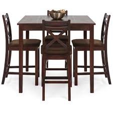 square dining table sets. 5-Piece Square Dining Table Set W/ 4 Chairs - Espresso Sets L