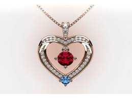 nana mother child heart pendant 5
