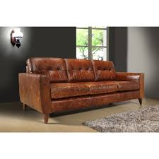 Image Deep Leather The Austin Vintage Leather 3seat Sofa Features Comfortable And Luxurious Design In Vintage Brown Weathered Leather Room For Three This Sofa Has Wood Bassett Furniture The Austin Vintage Leather 3seat Sofa Features Comfortable And