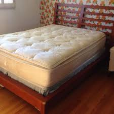 mattress and box spring queen. used queen size mattress, box spring \u0026 bed frame. purchased for our guest mattress and