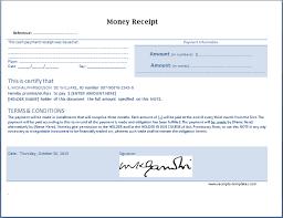 Money Receipt Templates For Ms Word Excel Receipt Templates