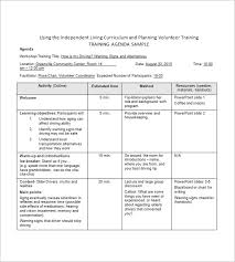 Training Agenda Template 8 Free Word Excel Pdf Format