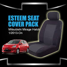 seat covers mitsubishi mirage la hatch 01 2016 on deploy safe 2 rows