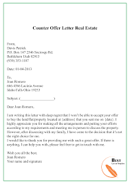 Example Of Counter Offer 016 Template Ideas Counter Offer Letter Real Estate Awful