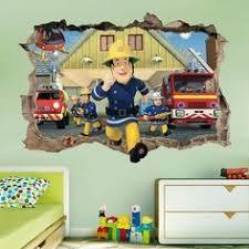 Fireman Sam Wooden Height Chart Firetruck Bedroom Wooden