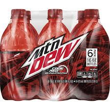 mounn dew soda code red 6 pack
