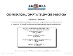 Organizational Chart Telephone Directory Ladbs