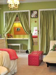 curtained tween room