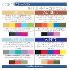 Best Color Palette For Charts Mens Color Analysis Spring Autumn Summer Winter In 2019