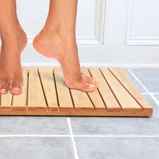 Amazon.com: Bamboo Deluxe Shower Floor and Bath Mat - Skid Resistant -  Heavy Duty Solid Design.: Home & Kitchen