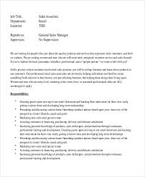 Customer Service Job Description Retail Sample Retail Job Description 8 Examples In Word Pdf