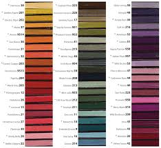 River Silks Color Chart Treenway Silks Silk Threads And Yarns