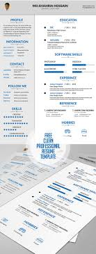 20 Free Cv Resume Templates 2017 Freebies Graphic Design