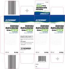 cetirizine hydrochloride syrup 1mg ml carton