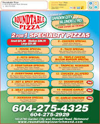 Round Table Special Showing Post Media For Round Table Pizza Flyer Wwwflyersdocom