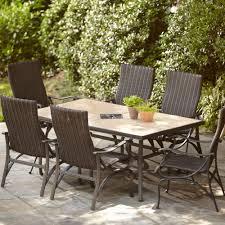 patio dining: hampton bay pembrey  piece patio dining set