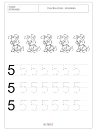 tracing-lines-for-numbers-worksheets-workpage-for-preschool ...
