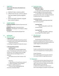 Sentence Pattern Worksheets High Worksheets for all | Download and ...