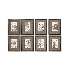 black and white flowers persian tiles framed wall art set of eight on brown canvas and on framed wall art sets of 3 with wall art sample pictures framed wall art set framed wall art