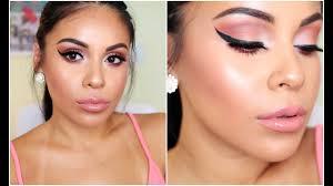 summer makeup tutorial 2016 peachy glowy juicyjas