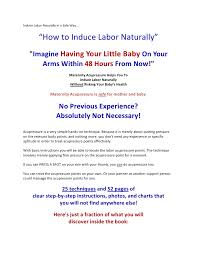 Labor Inducing Acupressure Chart Induce Labor Naturally