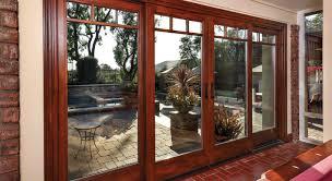wood sliding patio doors. Essence Series Wood 4-panel Sliding Patio Door Doors