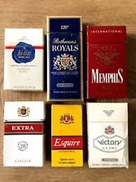 Details About Lot 6 Retro Old Empty Original Cigarette Boxes Pack Usa Bulgarian Internatioal