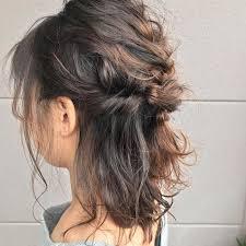 浴衣に似合う髪型24選ショートやボブのアップや簡単ヘアアレンジは
