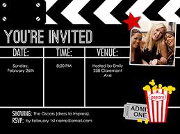 Movie Night Invitation Templates Movie Party Invitation Template Movie Night Invite Smilebox Riuma