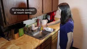 sanitizing the kitchen