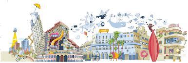 google office tel aviv 31. Google Office Corridors Illustrations. Tel Aviv Floor 31 \u2013 Joy \u0026 Optimism. 31_floor. Illu1 T