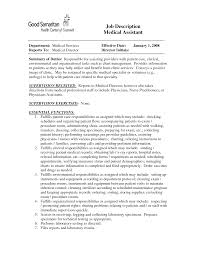 Medical Office Assistant Job Description For Resume Best Photos of Medical Office Job Description Template Medical 82