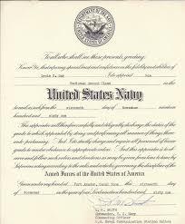 Rm2 Certificate U S Navy