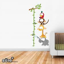 Baby Jungle Height chart Wall Stickers   mural infantil ...