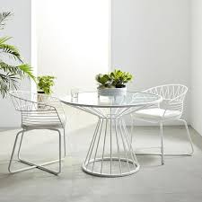 soleil metal outdoor dining table