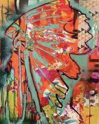 indian chief abstract