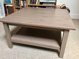 ikea hemnes coffee table 90x90cm grey brown