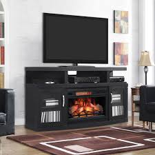 cantilever infrared electric fireplace media cabinet in embossed oak 26mm5508 nb04