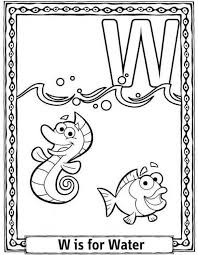 Small Picture Water Coloring Pages Water Free Alphabet Coloring Pages Free