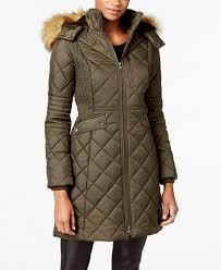 Jones New York Faux-Fur-Trim Quilted Down Coat - Coats - Women ... & Jones New York Faux-Fur-Trim Quilted Down Coat Adamdwight.com
