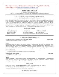 Child Care Resume Template New 48 Child Care Sample Resume Best Riez Sample Resumes Riez Sample
