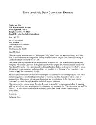 Resume Cover Letter Entry Level Position Examples Letters