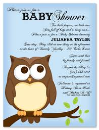 Owl Baby Shower Invitations  Baby Shower Decoration IdeasOwl Baby Shower Invitations For Boy