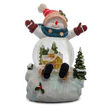 Сувенир <b>Снеговик</b> в синем шарфе SIGRO батарея,светодиод ...