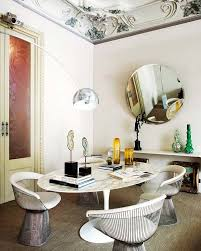 platner furniture. French Paris Apartment Loft Interior Design Decor Platner Chairs Marble Ellipse Tulip Table White Round Mirror Furniture