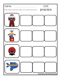 Cvc words consist of a consonant followed by a vowel and then another consonant sound. Cvc Practice Worksheet Have Fun Teaching