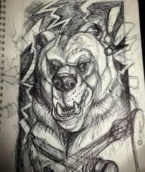 эскизы медведей значение татуировки с медведем Tattoo Line Work