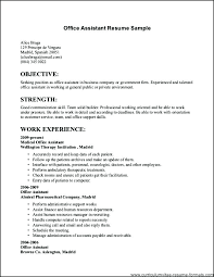 Resume Simple Format Inspiration Simple Example Of Resume Kappalab