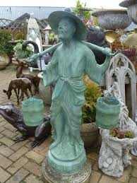 bronze garden statues. bronze garden statues statue of chinese water carrier in